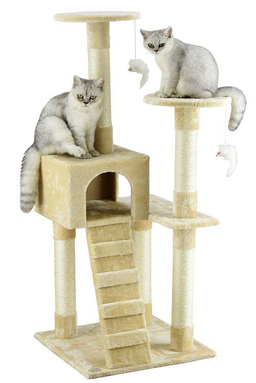 "Go Pet Club 52"" Cat Tree Furniture"