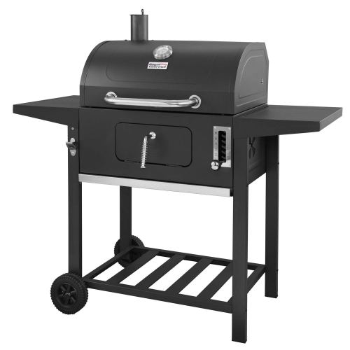 Royal Gourmet 24 Inch Charcoal Grill, BBQ Outdoor Picnic, Patio Backyard Cooking, Black