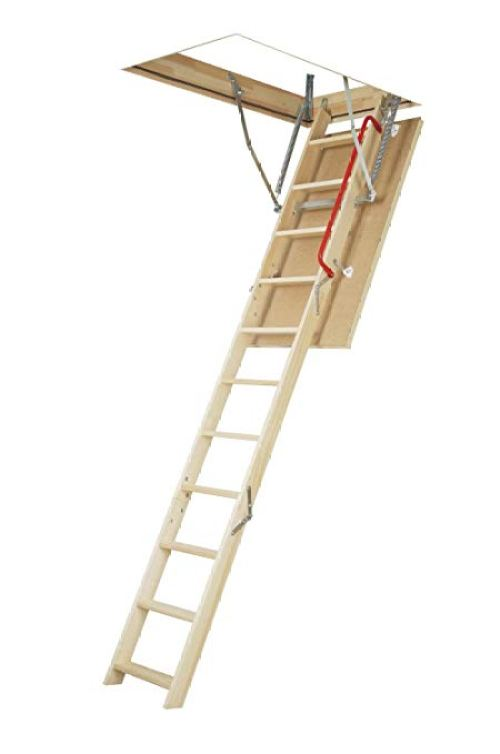 FAKRO LWT 66895 Wooden Thermo Attic Ladder with 12.5 R-Value for 30-Inch x 54-Inch Rough Openings