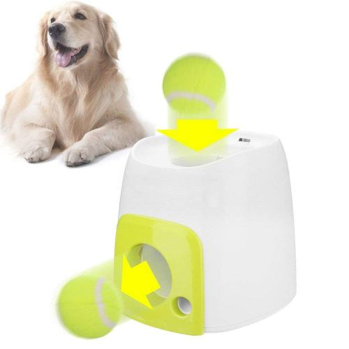 Angelwing Throw Ball Dog Training Fetch Tennis Launcher Machine Thrower Toy Interactive