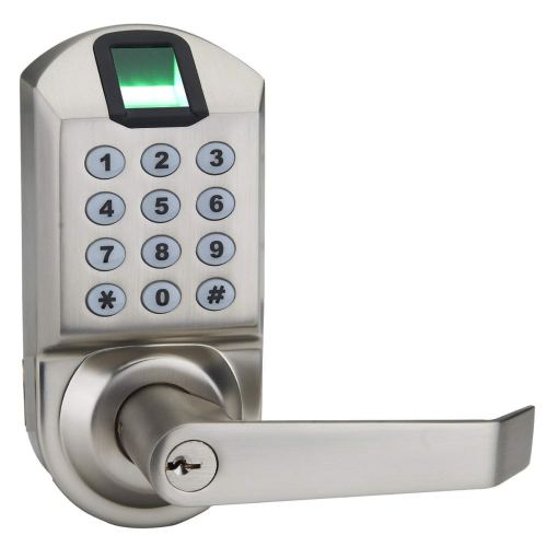 Ardwolf A1 Keyless Biometric Keypad Lock Fingerprint Door Lock - Satin Nickel