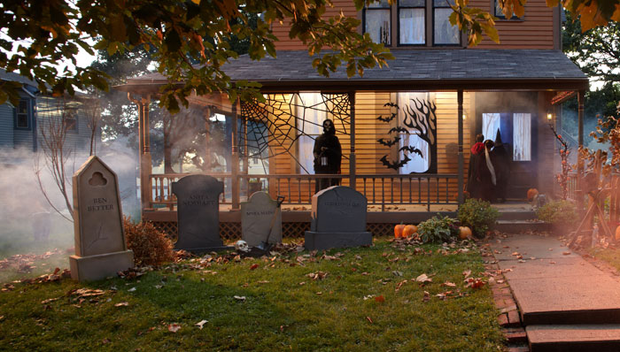 Backyard Cemetery - Halloween Decoration Ideas