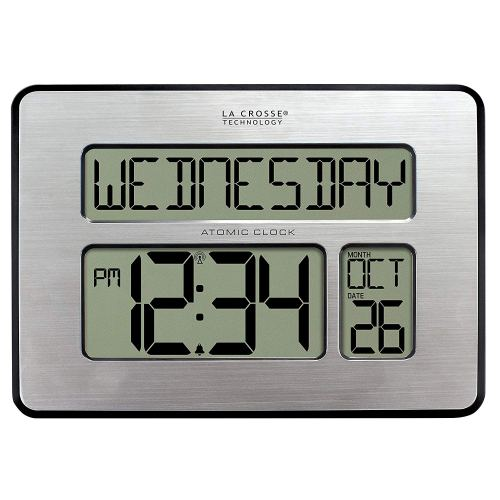 La Crosse Technology 513-1419-INT Atomic Full Calendar Clock with Extra Large Digits for The Elderly