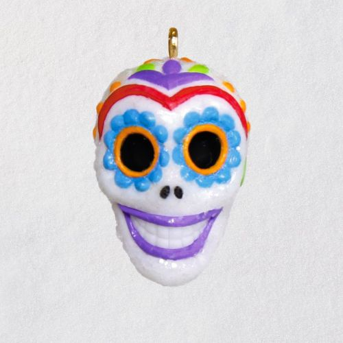 Mini Sugar Skull Guy Halloween Ornament