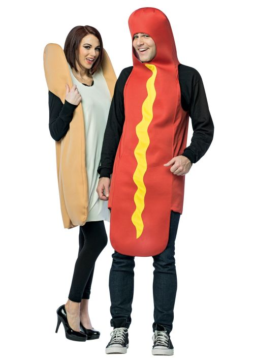 Rasta Imposta Hot Dog Bun Couples Costume
