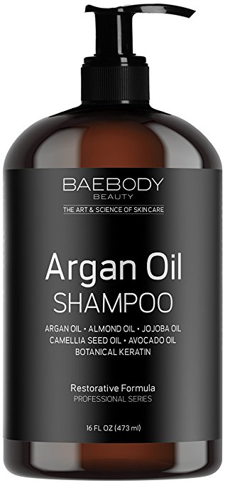 Baebody Moroccan Argan Oil Shampoo 16 Oz