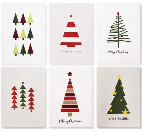 48-Pack Merry Christmas Greetings Cards