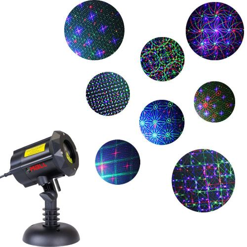 Motion 8 Patterns in 1 LEDMALL RGB Outdoor Garden Laser Christmas Lights