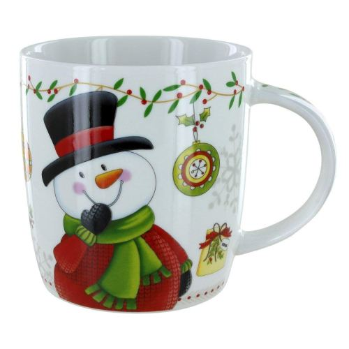 Christmas Snowman White Coffee Tea Mug