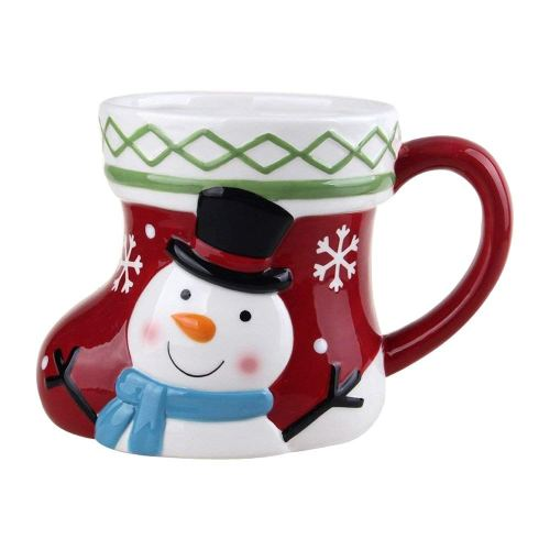 "Comfy Hour 5"" Winter Holiday Christmas Snowman Mug, Cup for One"
