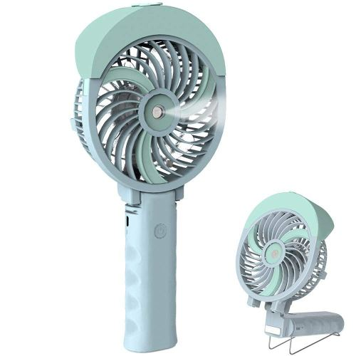 HandFan Handheld Misting Fan, Mini Hand Fan/Small Desk Fan Folding Change USB/Rechargeable Batter Operated Electric Fan Portable Cooling Fan Personal Spray Fan with Cooling Humidifier/Mister/3 Speeds