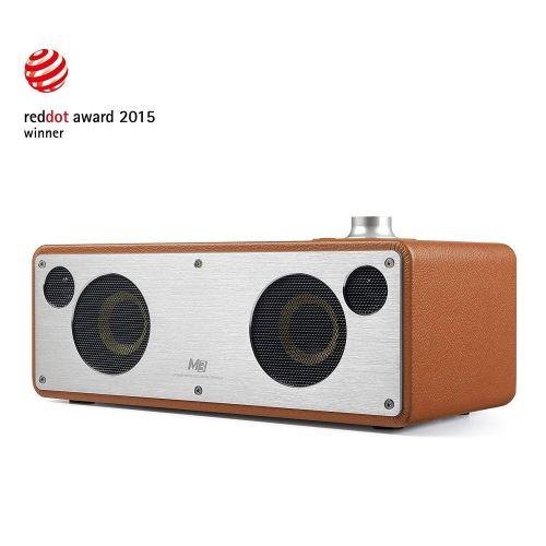 WiFi Bluetooth Speaker, GGMM Dual Wireless Speaker with Music Streaming, Enhanced Bass, Multi- Room Play, iHeart Radio, DLNA, Airplay Speaker (CAMEL)