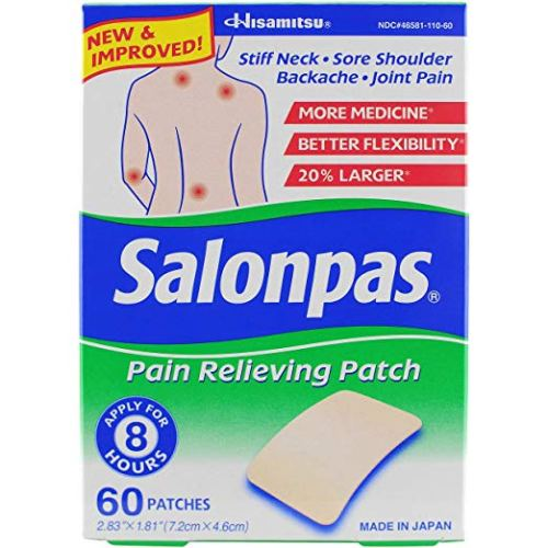 Salonpas Pain Relieving Patches, Pack of 60- Pain Relieving Patches