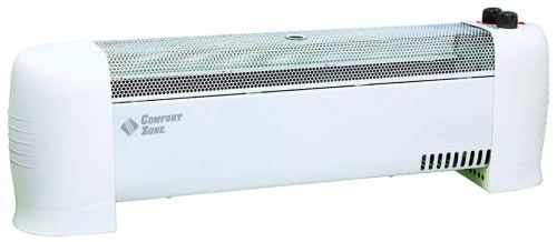 Comfort Zone Heater Convection Baseboard, White - Portable Baseboard Heaters
