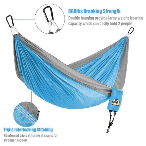 Wolfyok Portable Camping Single & Double Hammock