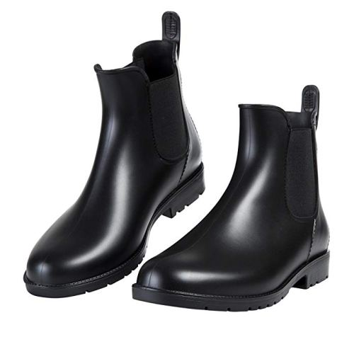 Asgard Women's Short Rain Boots Waterproof Slip-On Ankel Chelsea Booties