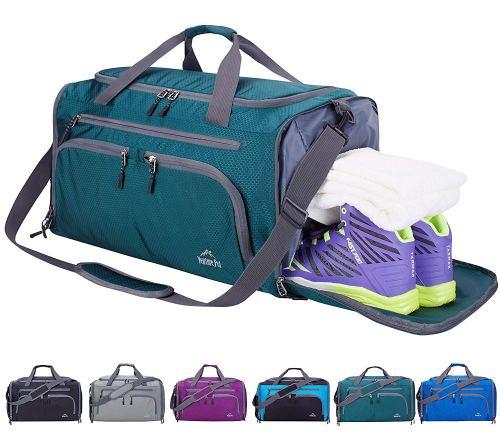Venture Pal Packable Sports Gym Bag Wet Pocket & Shoes Compartment Travel Duffel Bag
