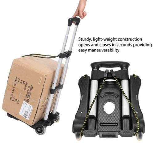 Coocheer Aluminum Folding Portable Luggage Cart Lightweight Travel Hand Truck