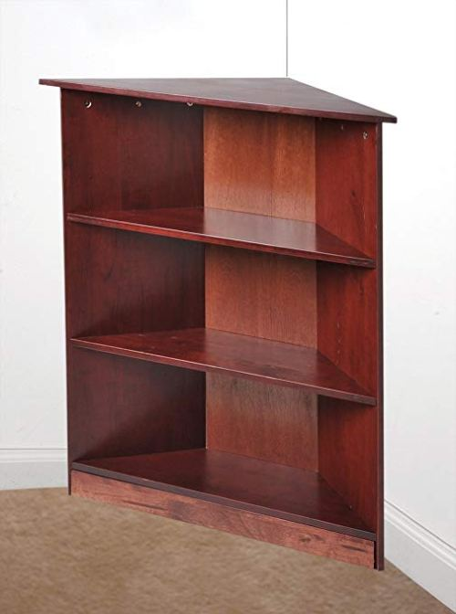 Gift Mark Corner Unit Bookcase, Cherry, 36""