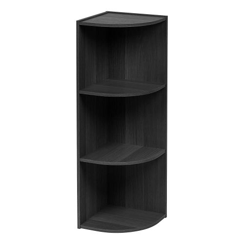 IRIS 3-Tier Corner Curved Shelf Organizer, Black