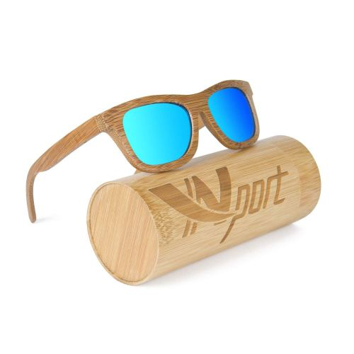 efbbfc1dfe Ynport Mens Womens Polarized Full Charcoal Bamboo Frame Classic Wooden  Coated Sunglasses