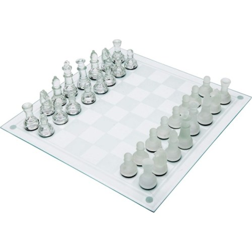 Maxam 33PC Glass Chess Set