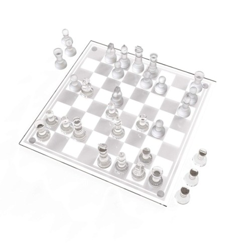 Trademark Games Glass Chess Set