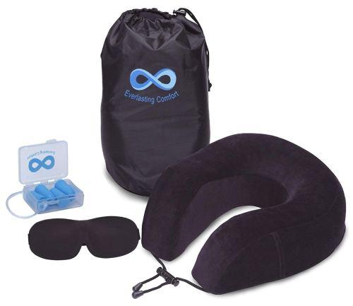 Everlasting Comfort 100% Pure Memory Foam Neck Pillow