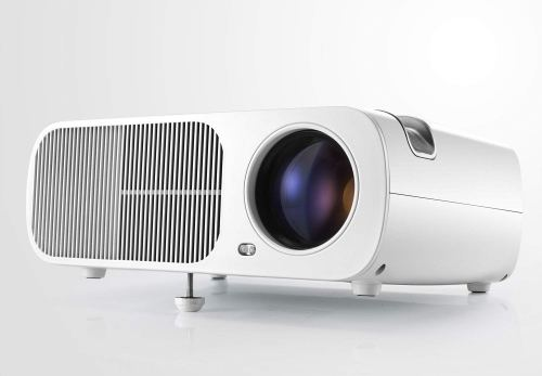 HD Projector, Pomarks Q2 Mini TV Projector for Home Theater, TV Box, DVD Player, Laptop, Tablet & Smarthone, Support VGA/HDMI/USB/AV Input , Max 200-Inch Display - White
