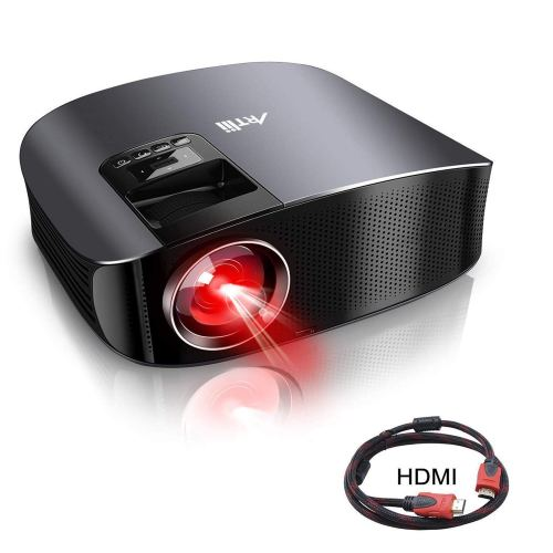 "Movie Projector, Artlii 3600 Lux Full HD Projector with HiFi Stereo 200"" Home Theater Projector with 2 HDMI USB VGA AV for Movies, Home Cinema, Sports and Games"
