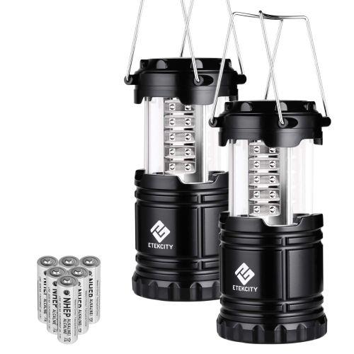 Etekcity 2 Pack Portable LED Camping Lantern Flashlights