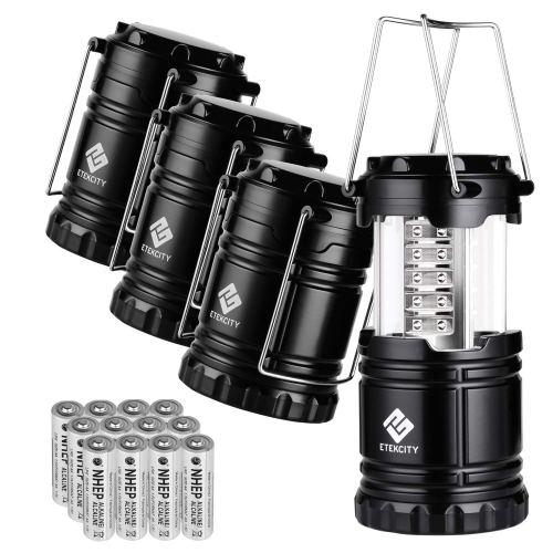 Etekcity 4 Pack Portable LED Camping Lantern Flashlight