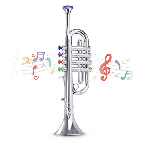 Metallic Silver Kids Trumpet