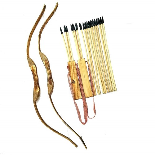 Adventure Awaits! – 2 (two) -Pack Wooden Bow and the Arrow Set