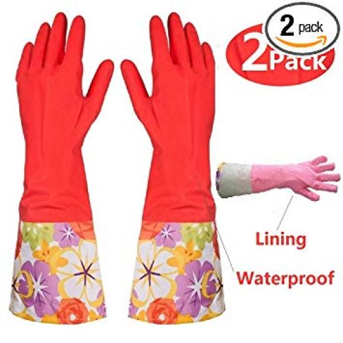 Kitchen Rubber Cleaning Gloves