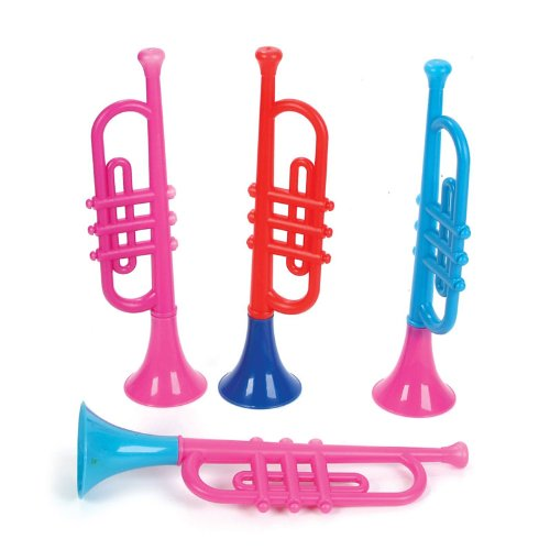 Rhode Island Novelty Kids Plastic Trumpets