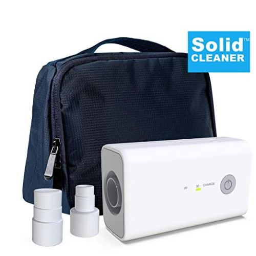 New SolidCLEANER CPAP Cleaner and Sanitizer Bundle Includes Sanitizing Bag, Compatible Heated Hose Adapter, AirMini Adapter, Portable and Rechargeable Mask Tube Cleaner