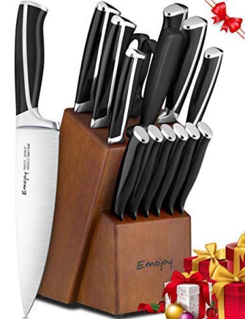 Knife Set, 15-Piece Kitchen Knife Set