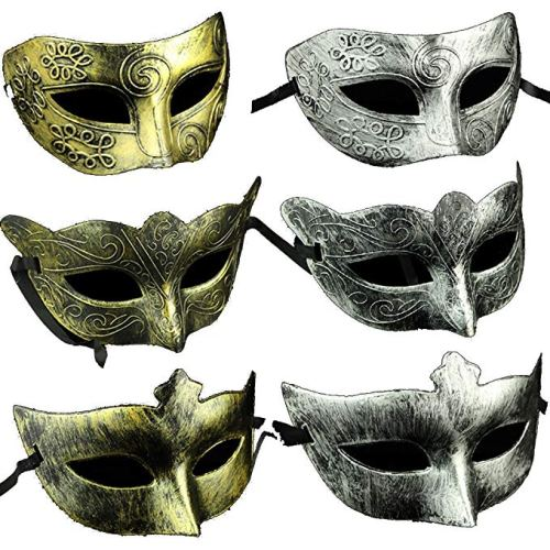 Adults Vintage Antique Look Venetian Party Mask