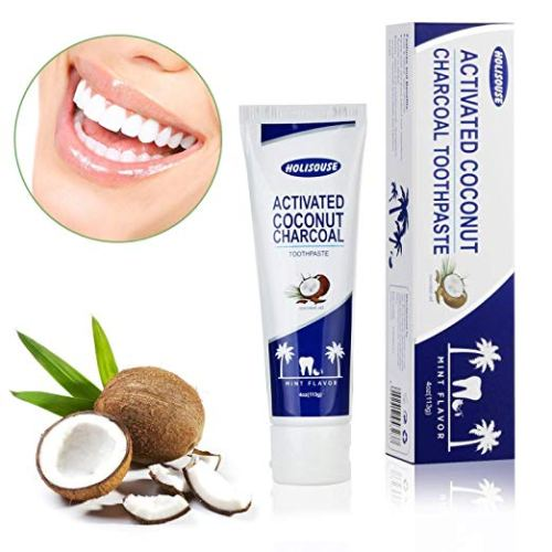 Holisouse Activated Charcoal Teeth Whitening Toothpaste