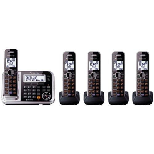 Panasonic Bluetooth Phone KX-TG7875S Link2Cell (Black/Silver)