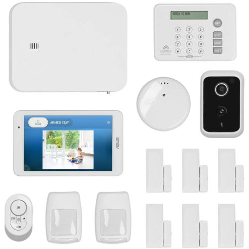 LifeShield, an ADT Company - 15-Piece Easy, DIY Smart Home Security System Optional 24/7 Monitoring - Smart Camera - No Contract - Wi-Fi Enabled - Alexa Compatible