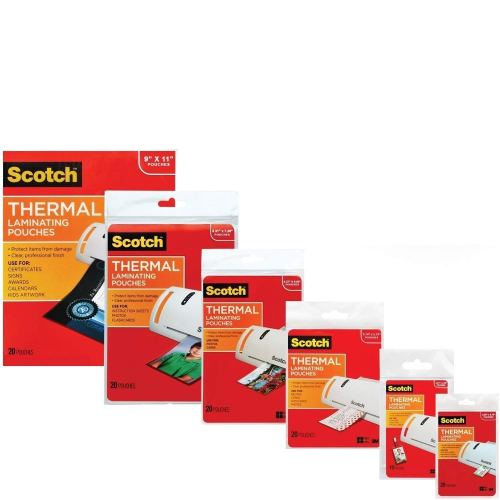 3M Laminating Pouch Kit with All varieties of Laminating Pouches