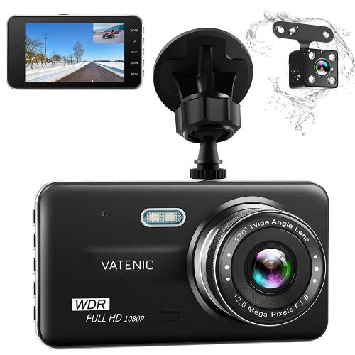 "Dual Dash Cam Car Dashboard Camera Recorder FHD 1080P Front And Rear Cameras ,Driving loop Recording ,4.0 "" IPS Screen 170°Wide Angle, WDR ,Parking Monitor, G-Sensor, Night Vision, Motion Detection"