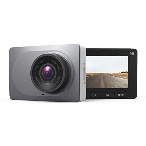 "YI Smart Dash Cam, 2.7"" Screen 1080P60 Full HD 165 Wide Angle Front Dashboard Camera Car DVR Vehicle Recorder with ADAS, G-Sensor, Phone APP, WDR, Loop Recording - Grey"