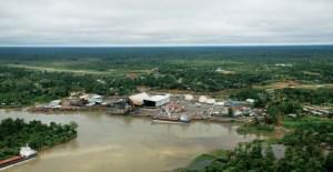 The river port of Kiunga on the Fly River. Credit: OTML