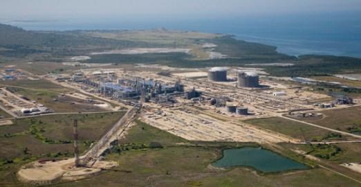 The PNG LNG plant under construction. Credit: ExxonMobil