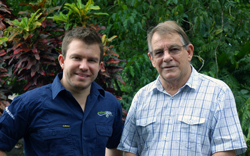 Cheyne and Max Benjamin of Walindi Plantation Resort