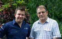 Cheyne and Max Benjamin of Walindi Plantation Resort