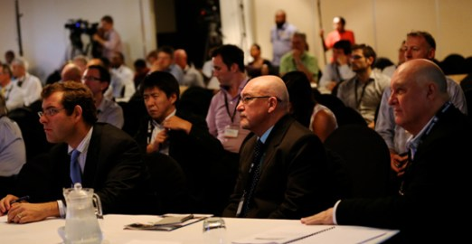 Delegates at the Ppaua New Guinea Advantage investment summit listen to Prime Minister O'Neill's speech